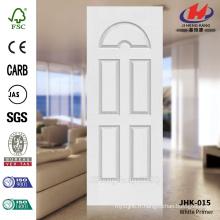 JHK-015 Five 5 Design de modèle de panneau Best Sell USA 3mm HDF moulé White Primer Door Skin