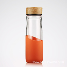Hot Sale Clear Glass Water Bottle With Cork