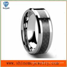 Shineme Jewelry Black Carbon Fiber Tungsten Ring (TST2827)