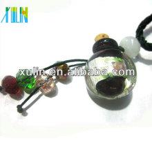 Forme ronde de bijoux mode verre de Murano bouteille de parfum pendentif