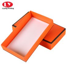 Foldable scarves gift box with lid