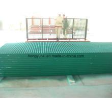 Grades de fibra de vidro como cobertura ou plataforma ou pavimento