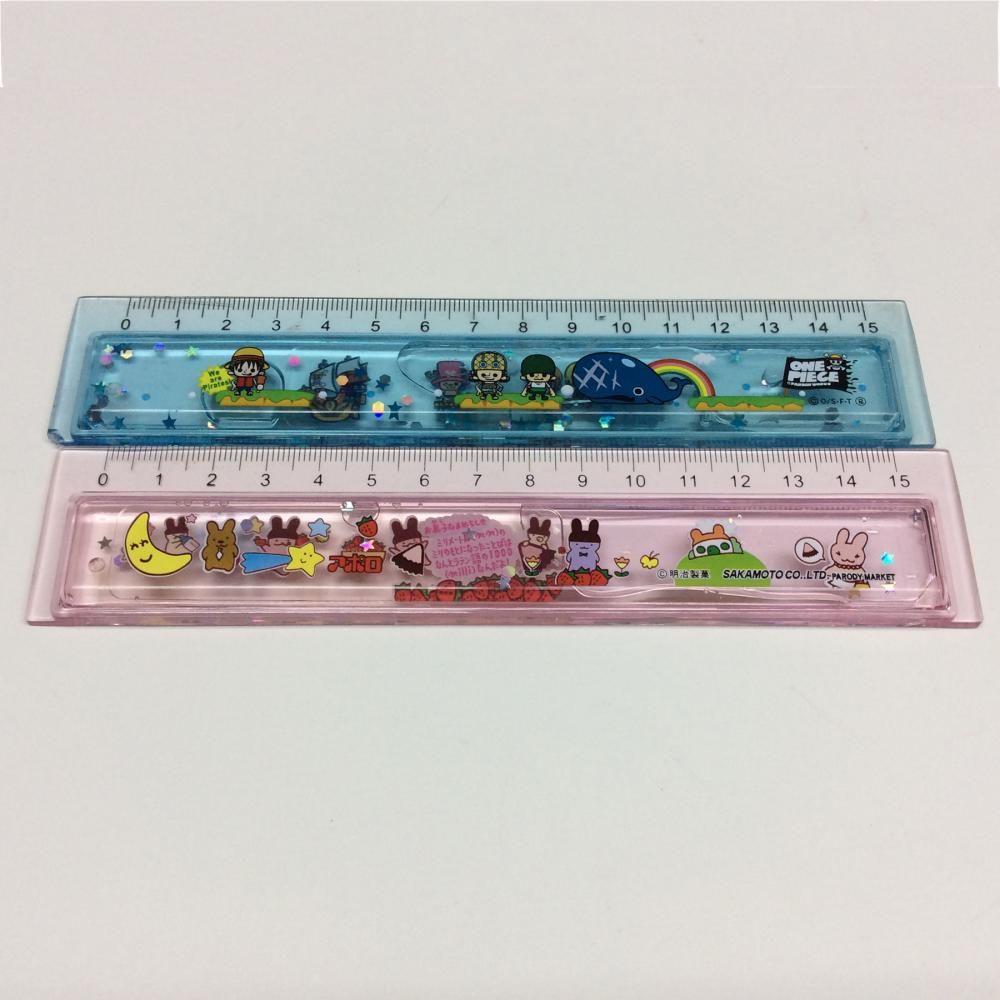 Plastic Cartoon Liquid Flow Student Ruler