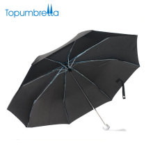 À prova de vento nylon barato 3 folding corporate gift umbrella with case