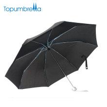 Ветрозащитный нейлон дешевые 3 складной корпоративный подарок зонтик с чехол
