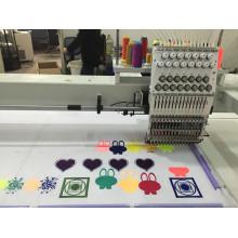 Nueva máquina del bordado de los colores de la cabeza 15 * 1500m m de 1500 * 1000m m Wy1501hl