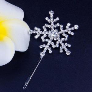 Fashion Unique Crystal Snowflake Hair Clips