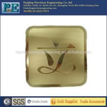 Corte de laser personalizado alumium company scutcheon