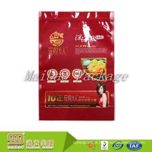 Saco plástico feito-à-medida do bloco de Doy do fabricante de Guangzhou com logotipo da impressão