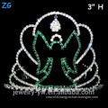 Wholesale Green Crystal Scary Halloween Ghost Crown