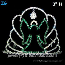 Atacado verde cristal assustador Halloween Ghost Crown