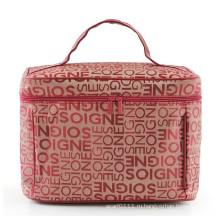 Леди классический дизайн письма моды полиэстер косметический мешок для мытья (YKY7511)