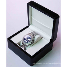 Caja de empaquetado de lujo elegante de encargo del reloj de la caja de reloj de la cartulina del papel