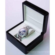 Caixa de empacotamento do relógio de papel extravagante luxuoso feito sob encomenda da caixa de relógio do cartão