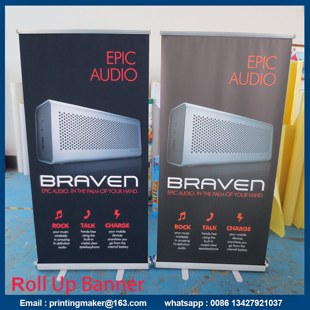 scrolling retractable banner