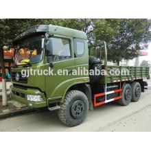 Dongfeng 6X6 camión de caja de carga militar para carga pesada con buena cabina