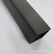 Em estoque 16x14x1000mm tubo de fibra de carbono completo de 3k