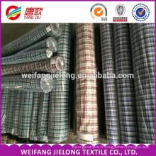 Haute qualité 100% coton plaid plaine fil teinté shirting tissu pour vêtements en gros fil teint coton lin shirting tissu