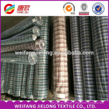 high quality 100% cotton plaid plain yarn dyed shirting fabric for garments wholesale yarn dyed cotton linen shirting fabric