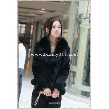 Fah016 OEM venta al por mayor de piel de prendas de vestir de piel de ropa de piel de conejo de piel de visón piel de ropa chaqueta de piel