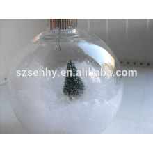 Clear Glass Christmas Ball with small decorations inside
