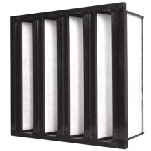 filtro de aire marco de plástico V filtro de banco