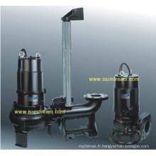 Pompe d'eaux usées submersible avec rail de guidage
