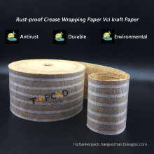 Anti-Corrosion Crepe Wrapping Paper with PE Coating for Pipes Coils Anti-Scratch Packing