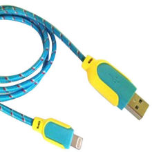iPhone 5 Lightning Round Cable with Mesh Jacket, Various Colours are AvailableNew