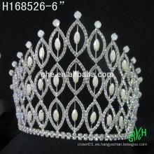 Nueva corona del Rhinestone de los diseños, tiara nupcial del desfile de la corona del rhinestone de la manera