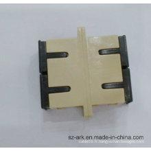 Adaptateur duplex optique de fibre de Sc Sm Dx avec l'arche de couleur beige
