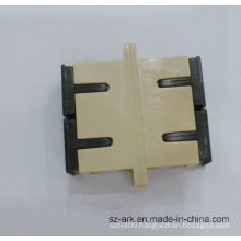 Sc Sm Dx Fiber Optic Duplex Adaptor with Beige Color Ark