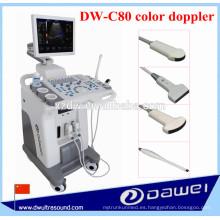 Máquina de ultrasonido 4d y máquina de ultrasonido Doppler de color DW-C80