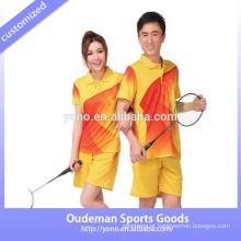 Novo design de badminton equipe jersey unisex, shorts atacado, venda quente de vôlei mulheres jersey equipe de qualidade A