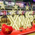 Waterproof Christmas Ornaments LED 3D Star Motif