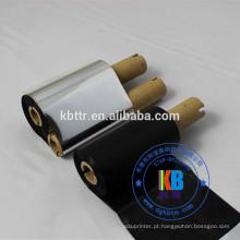 transferência de fita de lavagem de código de barras preto fita de transferência térmica