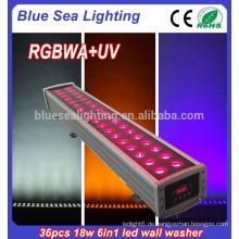 36x18w rgbwa uv 6in1led Wall Waschmaschine Licht im Freien LED-Flutlicht
