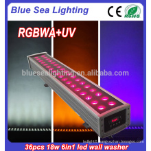 36x18w rgbwa uv 6in1led wall washer light outdoor led flood light