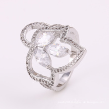 Low Price Innovative New Design Rings Silver Jewelry Ring with CZ Flower 12297