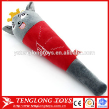 Soft cartoon wolf plush massage stick,plush massage hammer,plush massage wand