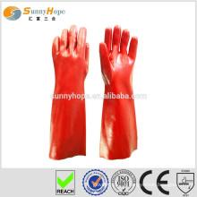 Gants en plastique trempés en PVC