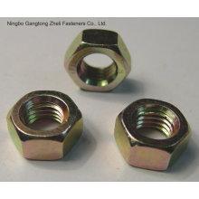 Nueces de cabeza hexagonal DIN934 de 4.8 grados con acero al carbono