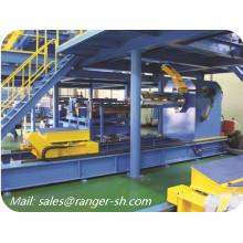 Contínua do plutônio sanduíche painel linha de produção automática durável