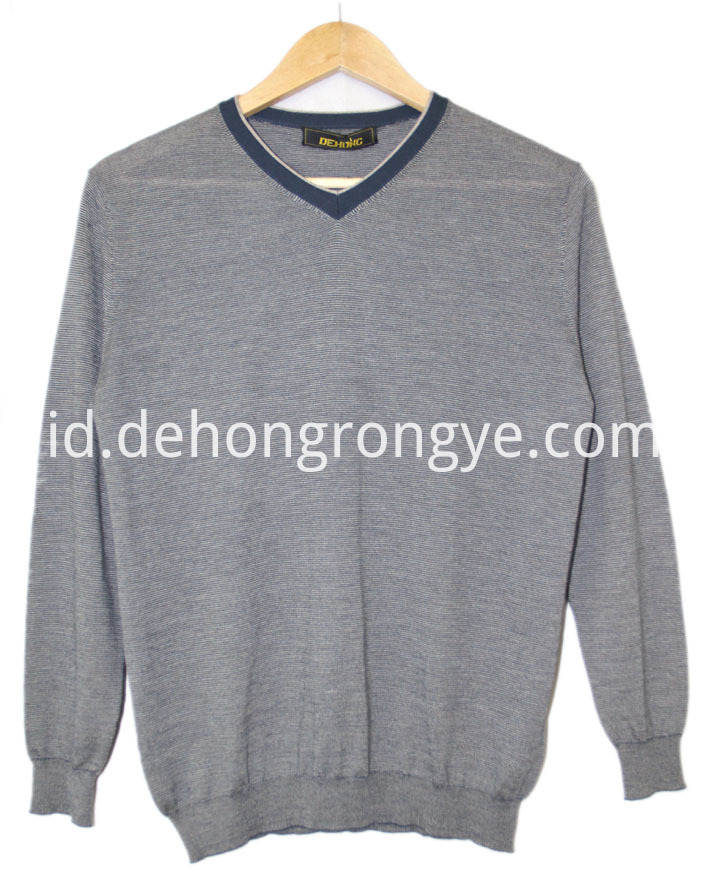 Worsted Small V Neck Cashmere Men S Sweater
