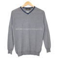 Worsted small v-neck cashmere men's sweater