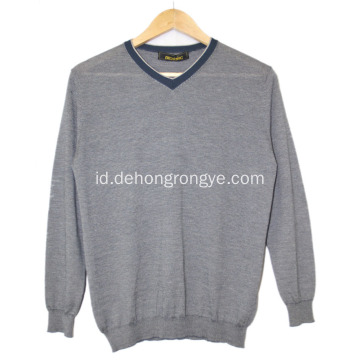 Sweater sweter kasir v-neck kecil