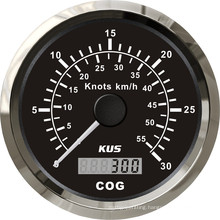 85mm GPS Speedometer 0-30 Knots with Backlight Black Faceplate
