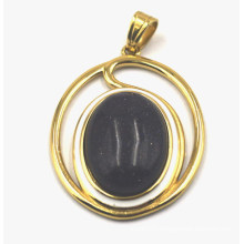 AAA Grade 18kt Plated Pendant with 18*25mm Gemstone