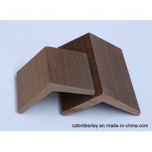 Borde de WPC de compuesto plástico de madera de protección ambiental