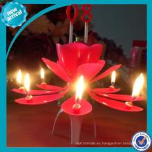 Flor de la vela de la música / uso del cumpleaños